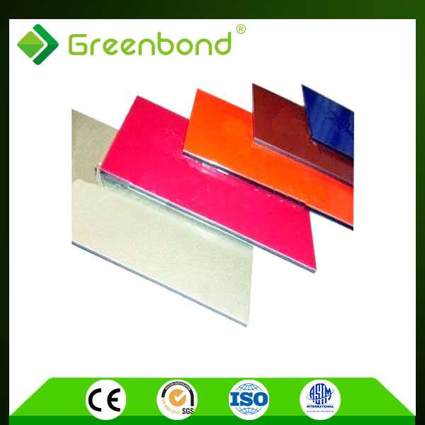 Greenbond fire resistant construction material partition wall Aluminum Composite Panel from jiangsu
