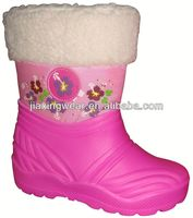 New Injection big size no heel less boots for outdoor and promotion,light and comforatable