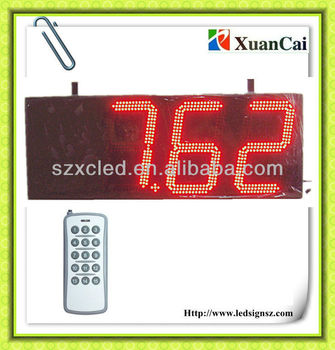 10 inch 8.8.8.8 single face LED gas sign