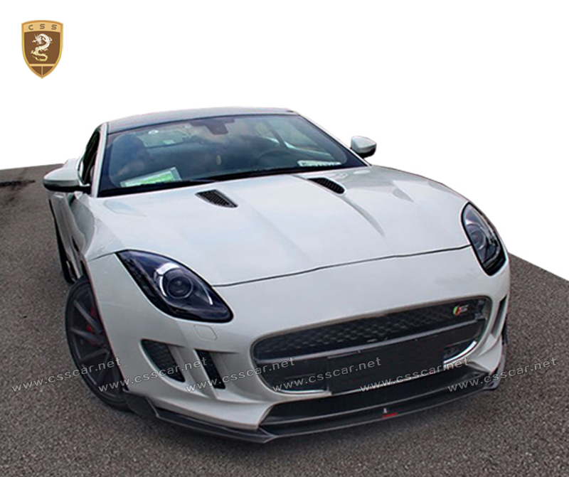 Body kit for upgrade 2014 jaguar to F-TYPE in carbon fiber