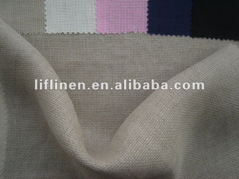 dobby solid dyed fabric 100% linen fabric for shirts