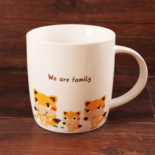 cartoon designs customized new bone china White ceramic souvenir dream cups and mugs