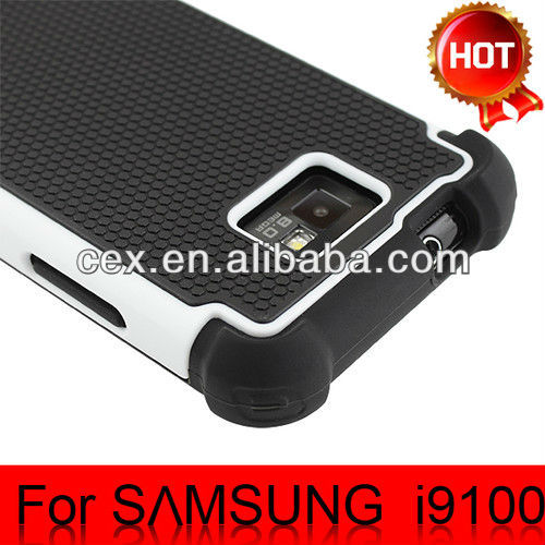 For Samsung Galaxy S2 i9100 Wholesales Hybrid Robot Defender Rugged Rubber Armor Proof Silicone Case