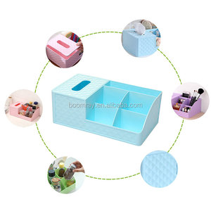 Home Office Desk Plastic PP Stationery storage box organizer Cosmetic Desktop holder