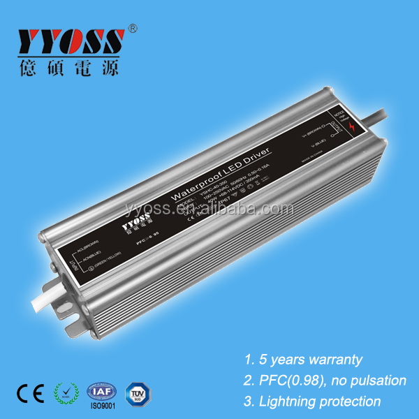 IP67 waterproof 5 years warranty 40W PFC(0.98) 350ma 700ma led driver with high efficiency