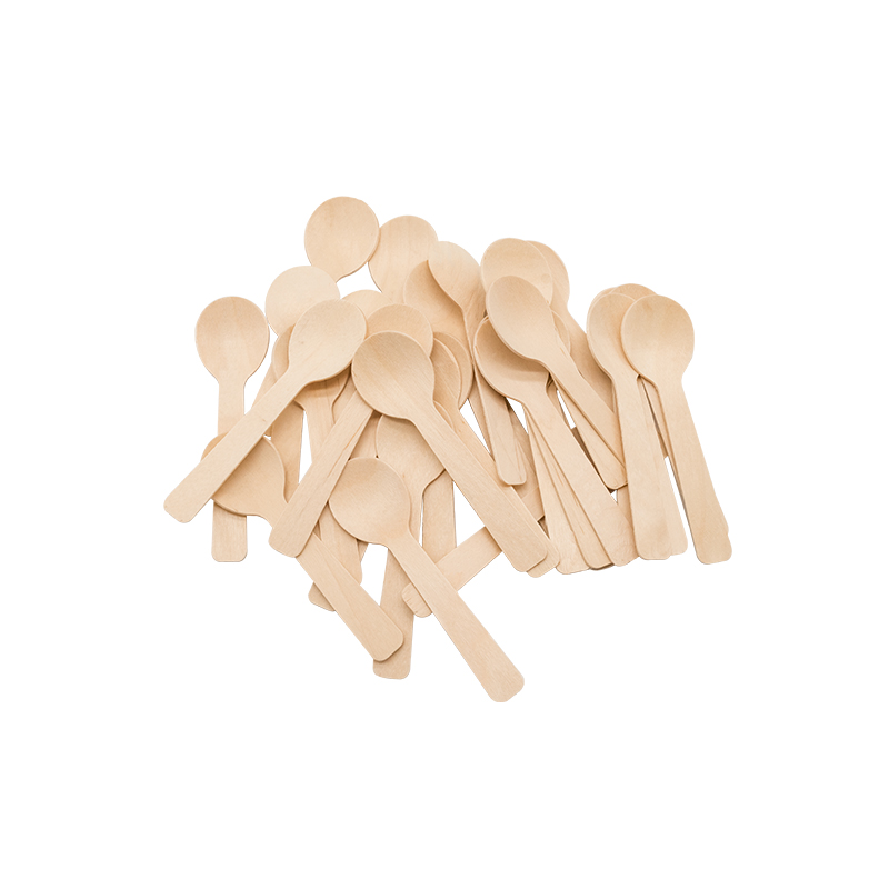 Disposable wooden cutlery spoon fork knife