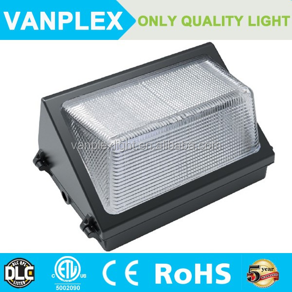 Vanplex FCC DLC listed LED wallpack, 80w 100w 150W outdoor wall pack lighting