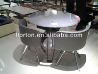 Sturdy Tempered Glass Top Latest Designs of Dining Tables