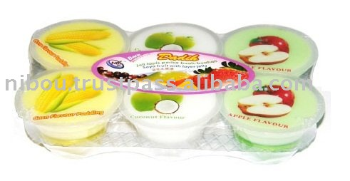 NBI Dadih Soya Fruits with Layer Jelly - Asst 2 (Durian/Coconut/Jagung)
