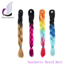 Wholesale price 41inch 32 inch 24inch synthetic hair super jumbo braiding cheap ombre braid 3 tone color