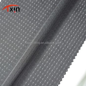 wholesale tear resistant polyester warp fabric for sportswear, smooth athletic mesh fabric