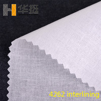 100gSoft crisp 4262 cloth placket lining high collar soft cotton woven fabric interlining