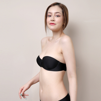 Strapless invisible underwear bra women gathered small chest sexy steel ring adjustment Bra thin section 3021