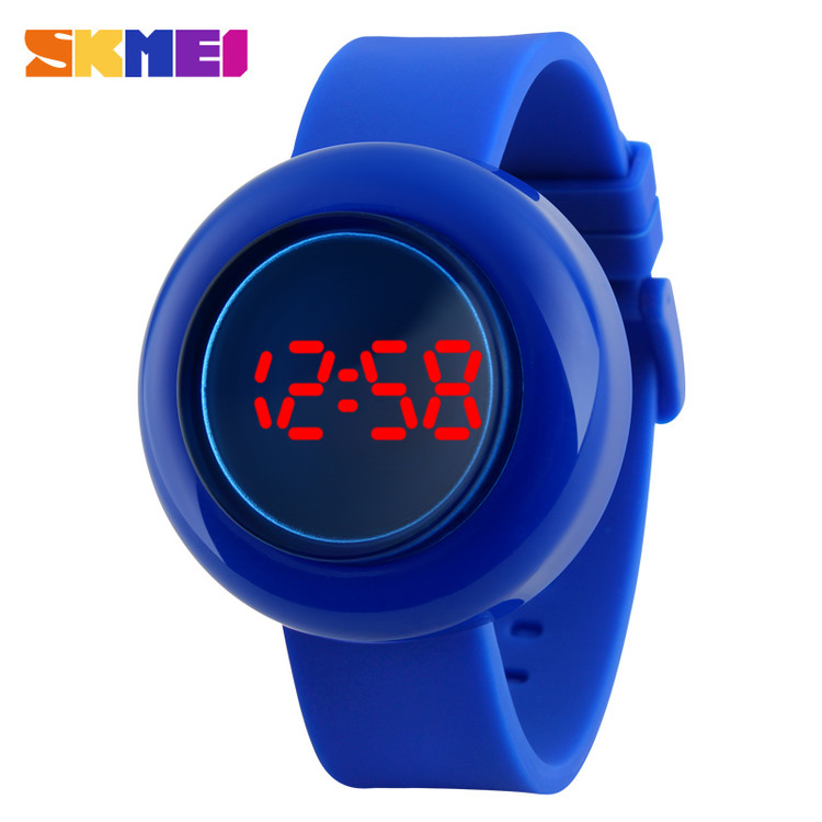 Skmei fashion simple silicon band watches touch screen LED wrist watch for unisex # 1138
