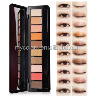 NOVO eye shadow 10 Colorcs glitter palette cosmetics makeup products private label eyeshadow palette