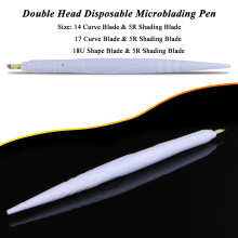 Dual Head Disposable Microblading Permanent Makeup Eyebrow Manual Pen For Shading & Hairstroke