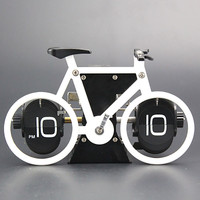 Brand New Bicycle Flip Clock Time Adjustment-Set Desk Clocks For Home Office Decor Retro bike Table Clocks Gift