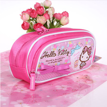 Wholesale Pencil Bag Custom School Zipper Cartoon Cute Hello Kitty Printed Pencil Case