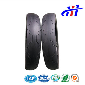 PU Solid Tyre Rubber Wheels And Tires for Baby Stroller, Trolley, Wheelchair