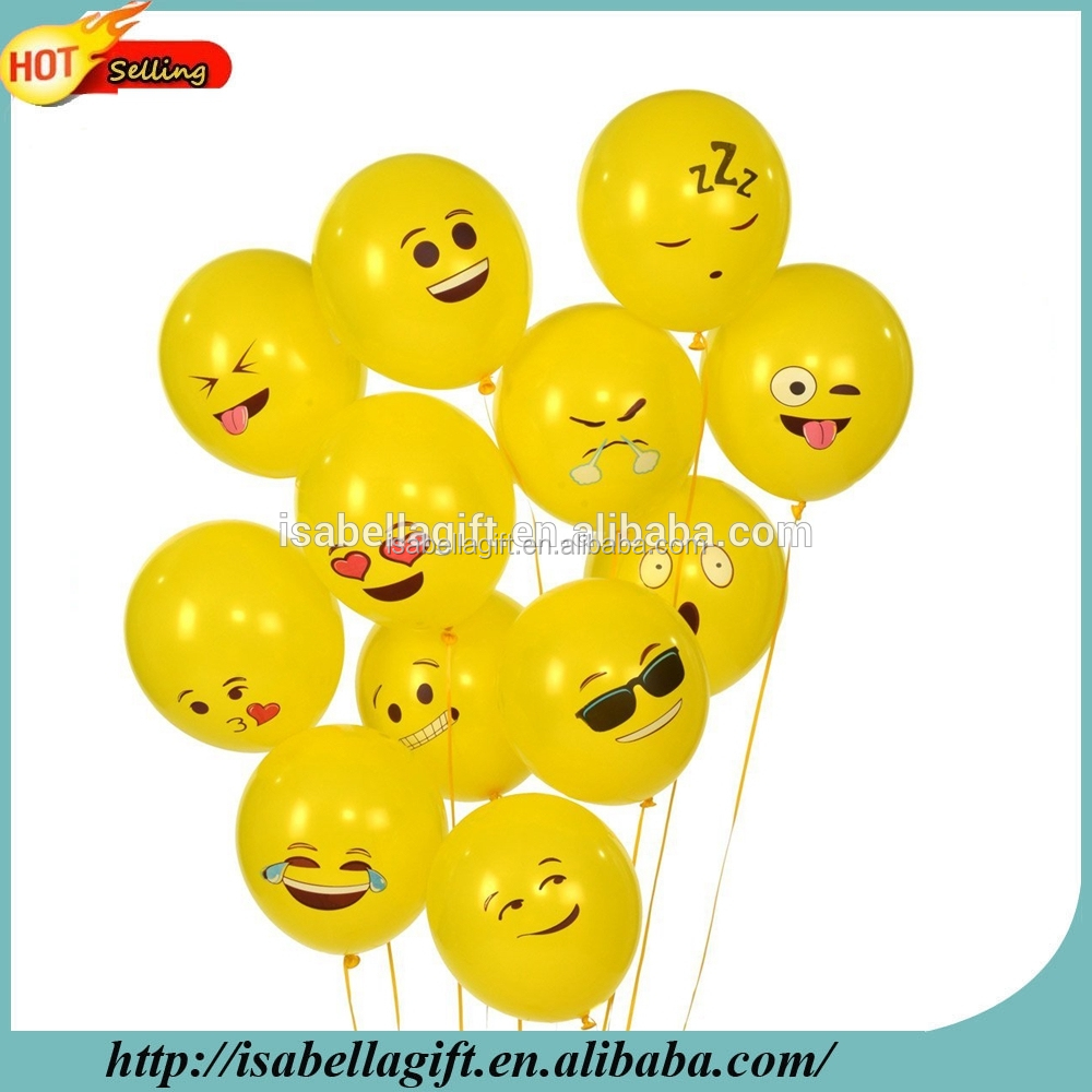Made In China Super September Purchasing Pokemon Birthday Party Decoration Emoji Latex balloons, Emoji Balloon