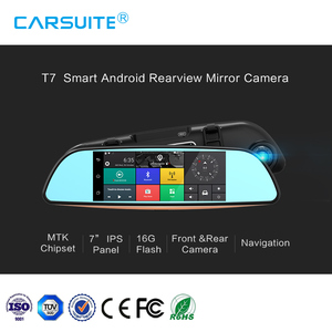 2018 wholesale GPS navigation on sale smart Car rearview camera 7 inch 3G protect video off line navigation wdr car recorder