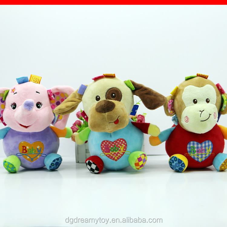 Popular musical pull string educational baby plush toys
