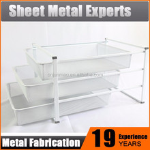 Simple Style Powder Coating Finishing Metal Multilayer Wire Basket Shower Caddy Storage Basket
