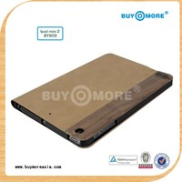 wholesale alibaba 100% real natural wooden and leather for new custom ipad mini 2 case
