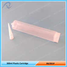 300ml PP Clear Empty Silicone Plastic Sealant Caulking Tube