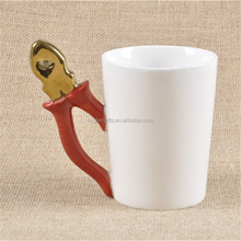 Tool Shaped Handle Ceramic Coffee Mug Novelty Funny Gift Milk Mugs for Men