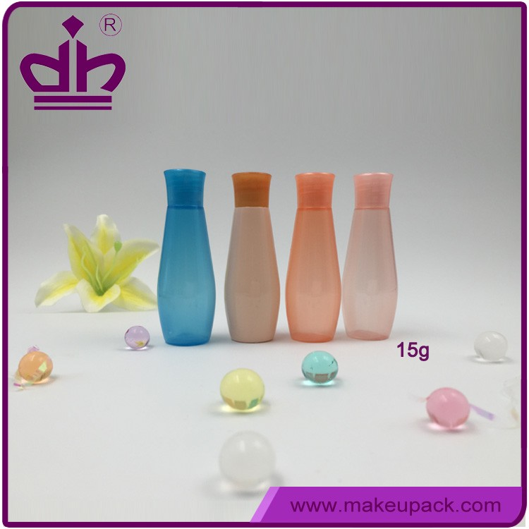 15ml empty plastic bottles cosmetic sample container for liquid