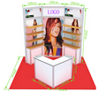 10 by 10 feet small exhibition booth display, small aluminum portable booth display design