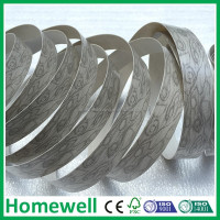 flexible wood grain 3mm plastic trim/pvc edge banding