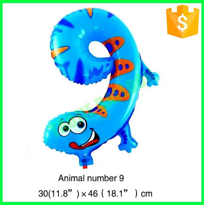 Helium foil animal Number 8 balloons