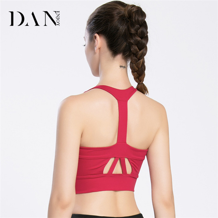 Ladies Professional Workout Crop Top Shockproof Gym Bra Fitness Quick Dry Breathable Sports Underwear