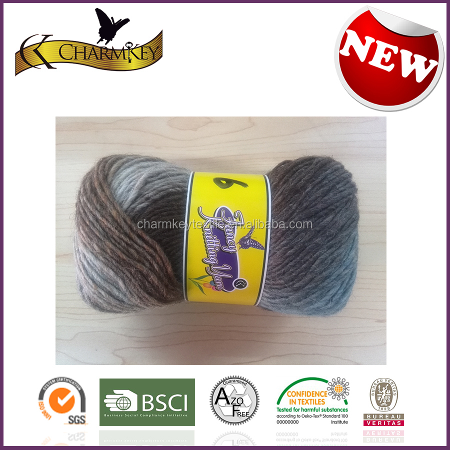 2015 Hot sale in North American Jacquard wool knitting yarn