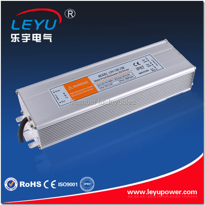 LDV-150 power supply CE RoHS approved ac 220v input dc 12v output waterproof power supply