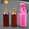 Good quality 100ml shiny surface sprayer aluminium perfume bottle with clip