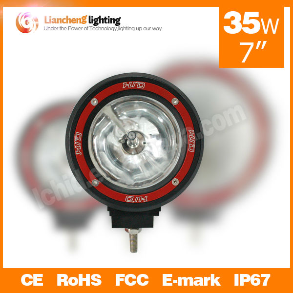 "Newest!! HID off road light 7"" 35W 3000LM, Round HID driving work light 4x4 accessories truck lights"