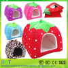 Wholesale plush puppy cats octagonal washable dog bed for pet