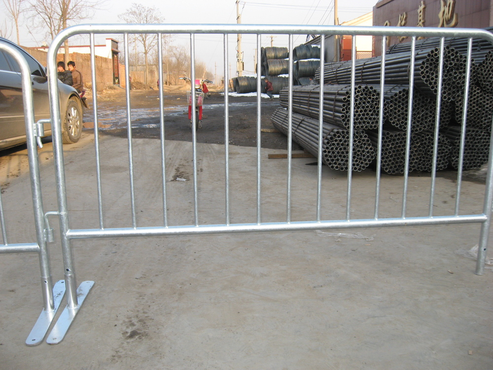 reflective crush Barrier construction with red and white plate safety barricade with name plate