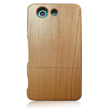 Made in China mobile phone case, cherry wooden phone cover for Sony Z3 Mini
