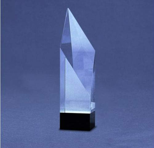 Elite Black Accent Crystal Diamond Award