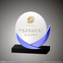 elegant clear crystal glass jade award black and white cheap glass trophy award anniversary cheap glass award
