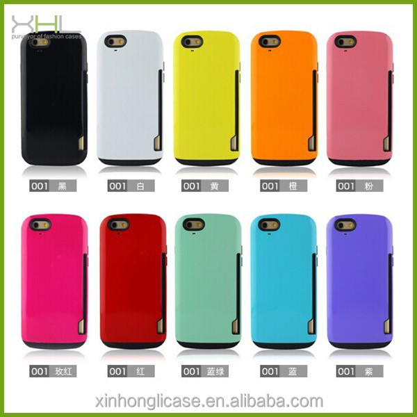 NEW product PC TPU hybrid card cell phone case cover for iphone 6,tpu case for iphone 6