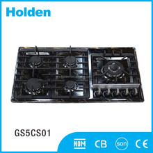 GS5CS01 Top quality durable built in 5 burner stainless steel cooktops gas hob