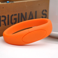Real Capacity Silicone bracelet usb flash drive 1gb-64gb wholesale price