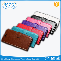 Water proof genuine wallet leather case for Sony Z3 Z4 Z4 mini
