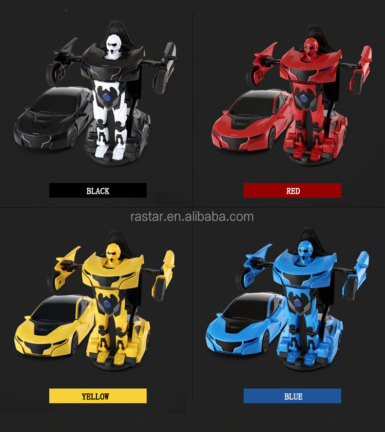 Rastar small toy car robot for kids high quality alloy transformable car