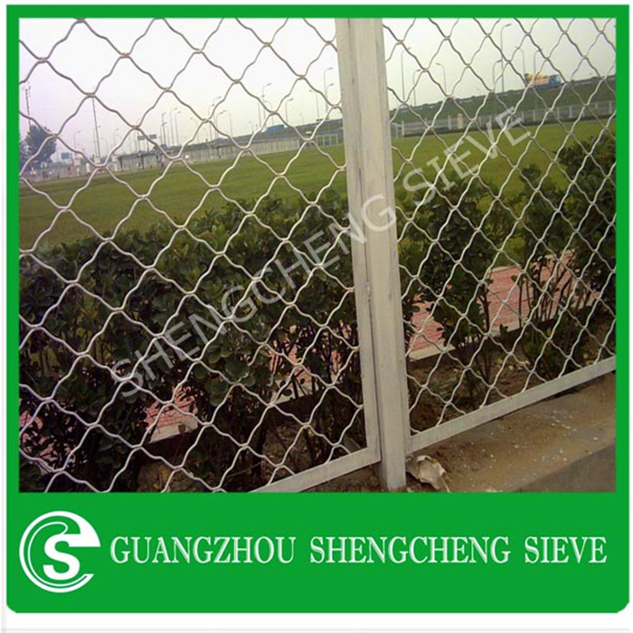 Customized metal Beautiful grid wire mesh with powder coating